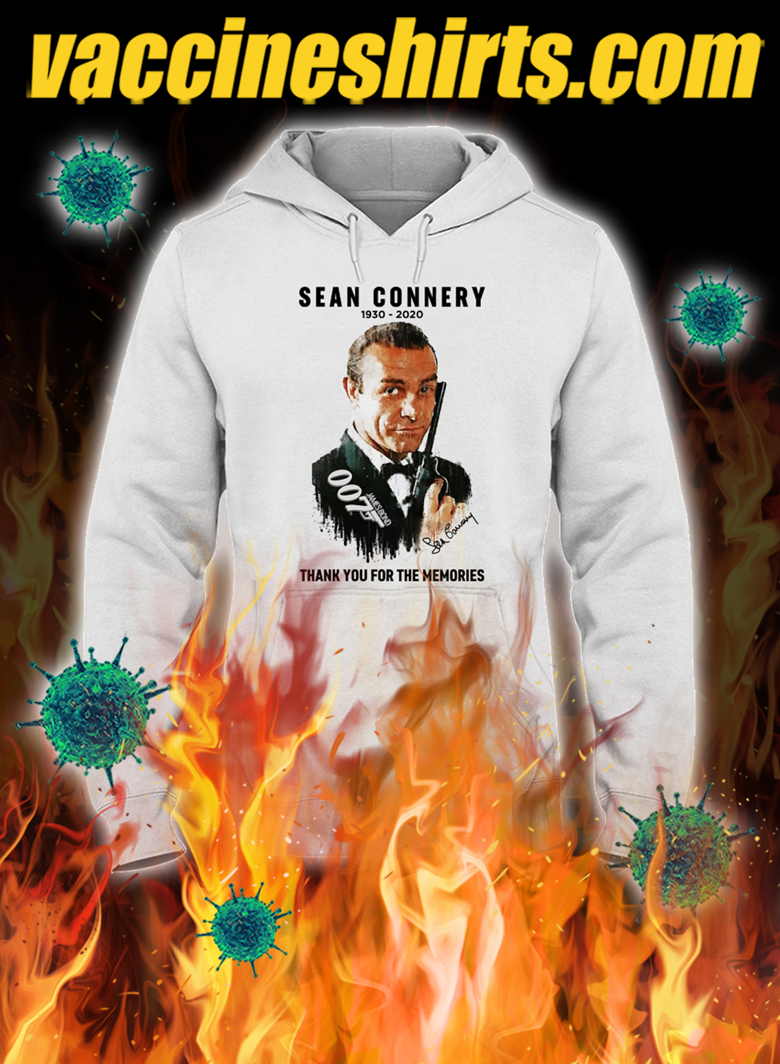 Sean connery 1930 2020 thank you for the memories hoodie