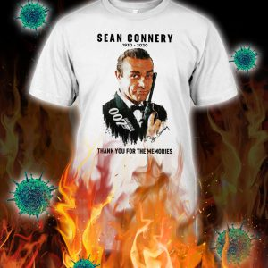 Sean connery 1930 2020 thank you for the memories shirt