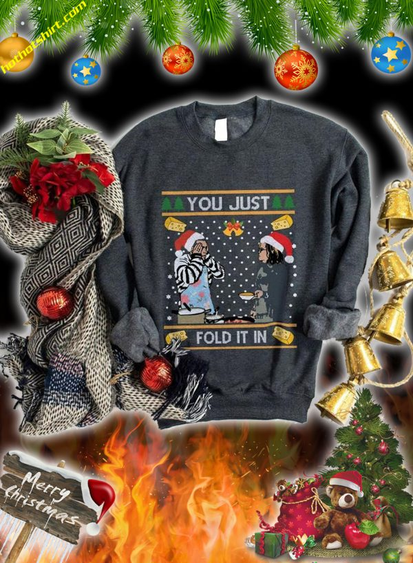 You just fold it in christmas sweatshirt and jumper 1