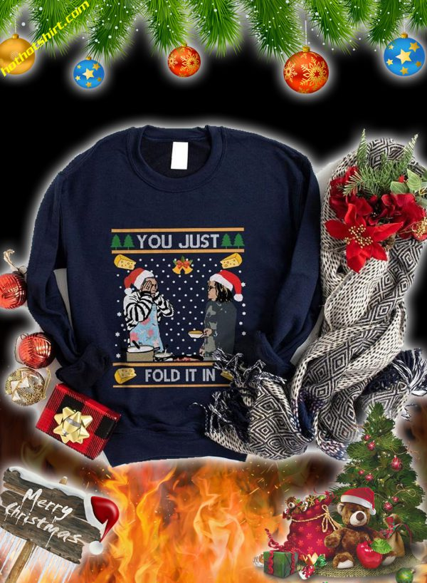 You just fold it in christmas sweatshirt and jumper 2