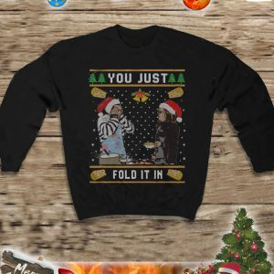 You just fold it in christmas sweatshirt and jumper 3