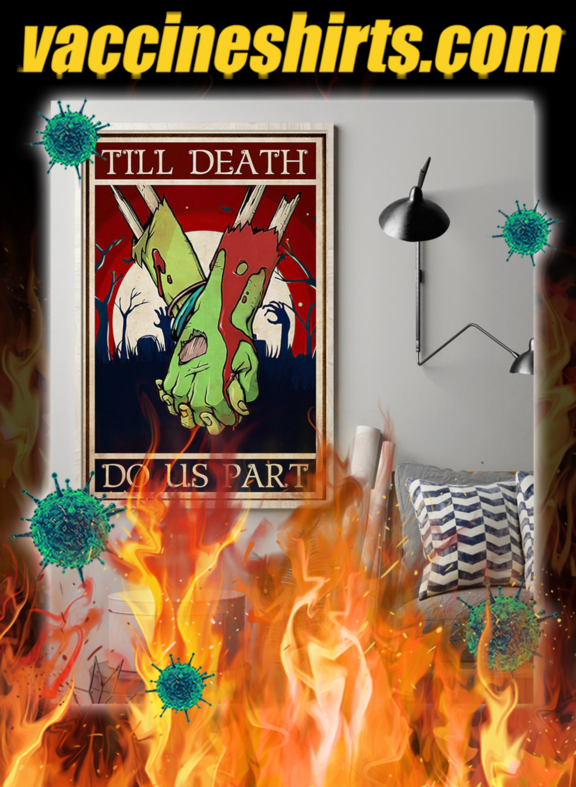 Zoombie till death do us part poster- A1