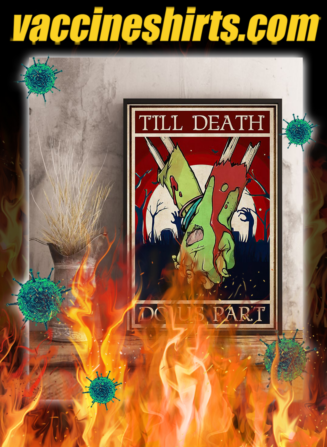 Zoombie till death do us part poster- A4