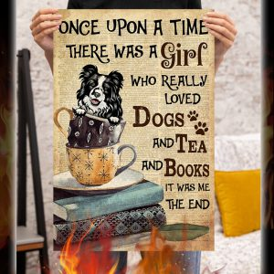 Border Collie there was a girl who really loved dogs and tea and books poster