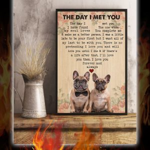 French Bulldog Couple The Day I Met You Poster