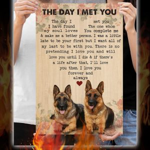 German shepherd couple the day i met you poster