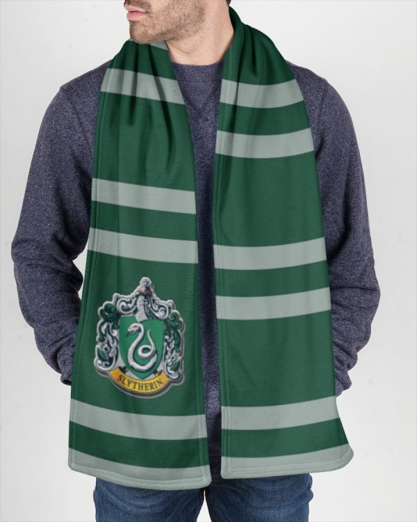 Harry Potter Slytherin Fleece Scarf 1