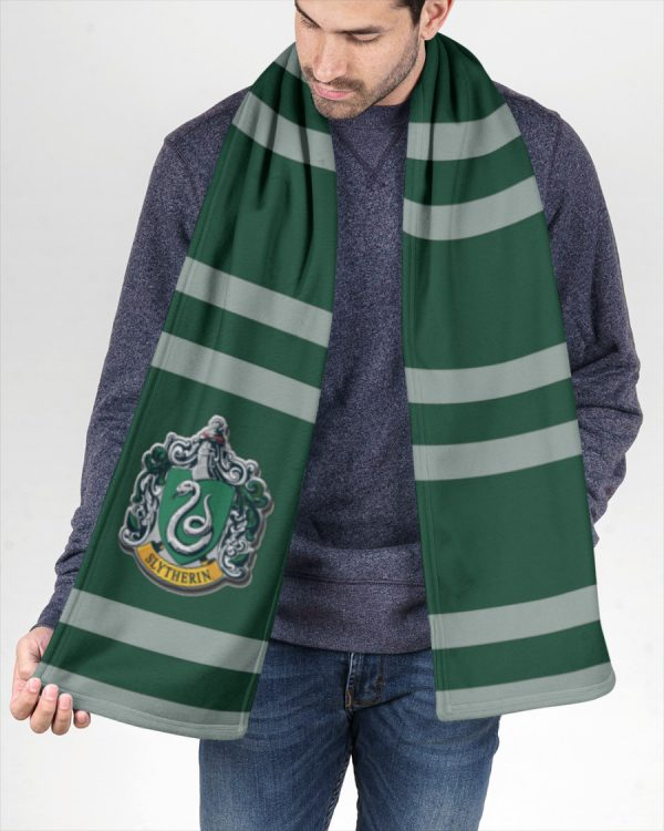 Harry Potter Slytherin Fleece Scarf 2