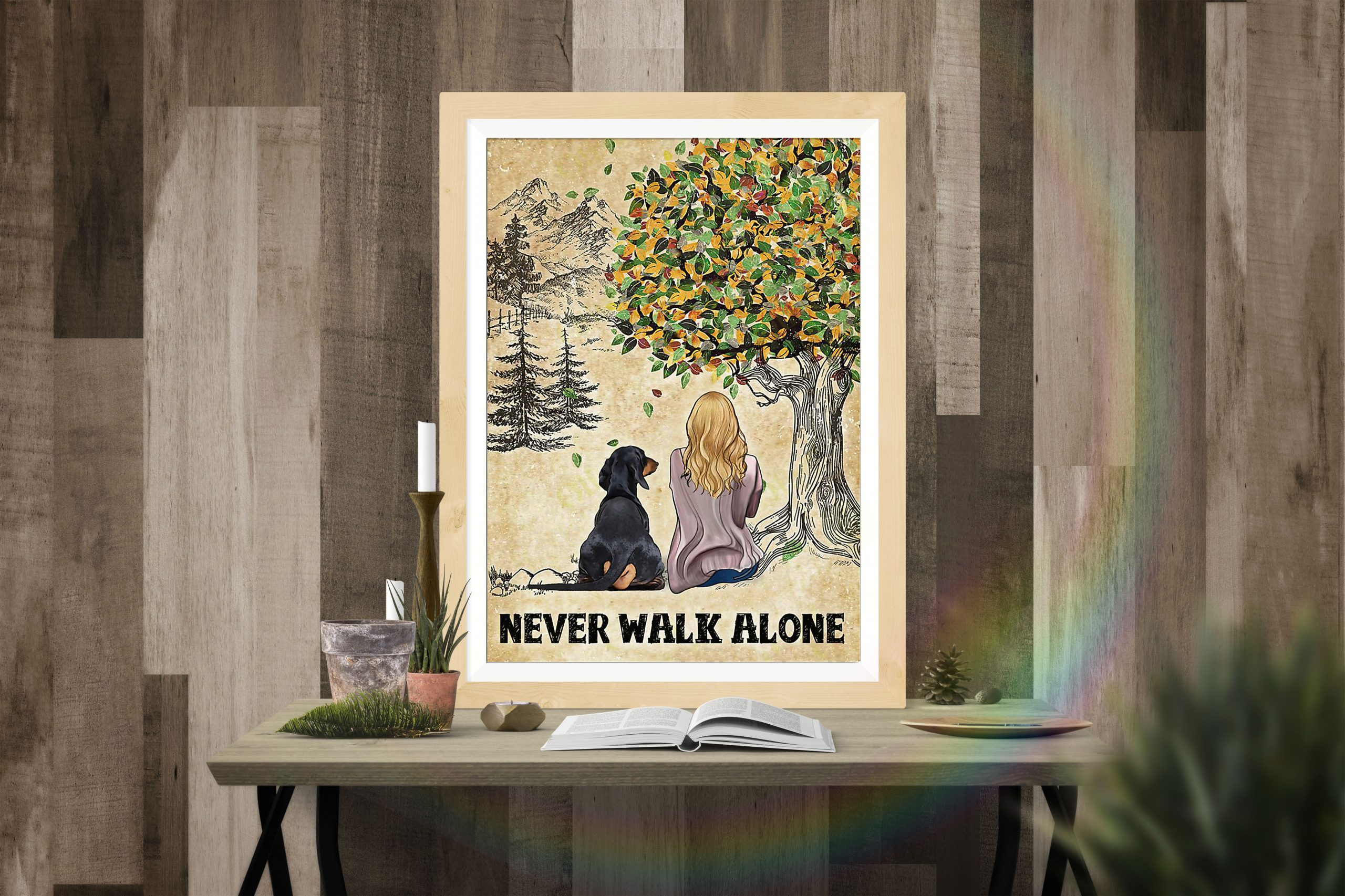 Dachshund Girl Never Walk Alone Poster