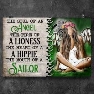 Irish Woman the soul of an angel the fire of a lioness poster 1
