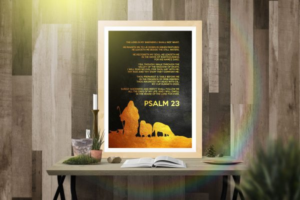 Psalm 23 The lord is my shepherd i shall not want poster