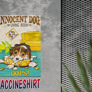 Beagle innocent dog living room oops poster