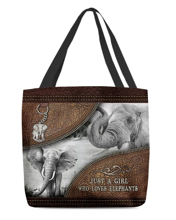 Just A Girl Who Loves Elephants Tote Bag 1
