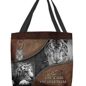 Just A Girl Who Loves Tigers Tote Bag