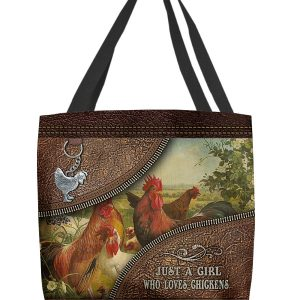 Just a girl who loves chickens tote bag
