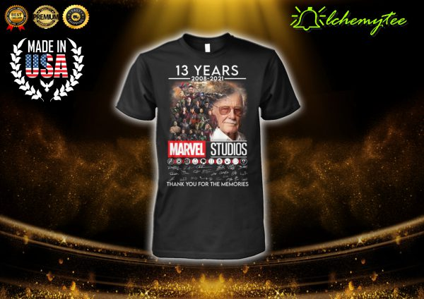 Marvel Studios 13 Years 2008 2021 Thank You For The Memories Signature Shirt