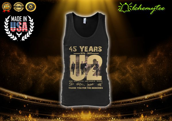 U2 45 years 1976 2021 thank you for the memories signature shirt 4