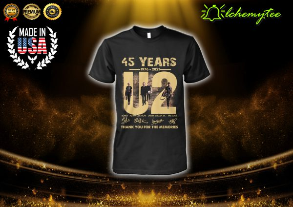U2 45 years 1976 2021 thank you for the memories signature shirt