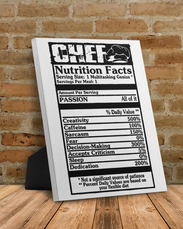 Chef Nutrition Fact Canvas