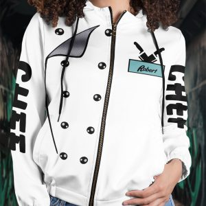 Personalized Chef I cook because i don't mind hard work All Over Print Hoodie 3