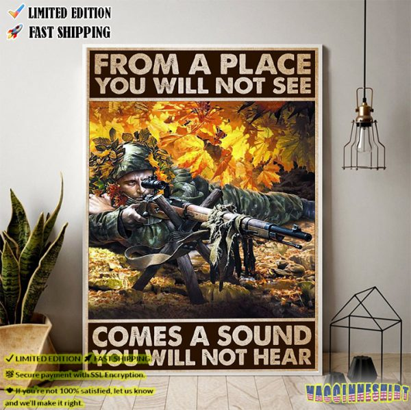 Veteran From A Place You Will Not See Come A Sound You Will Not Hear Poster