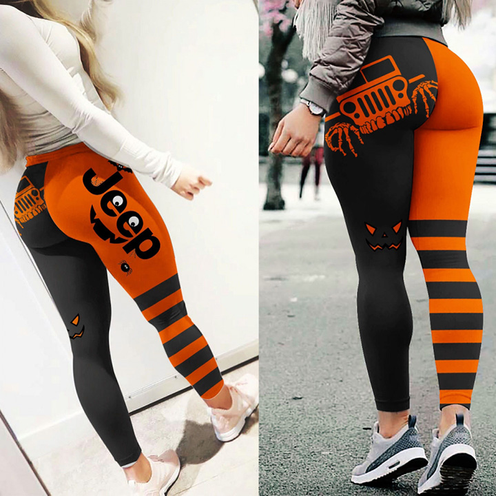 Halloween legging with funny jeep logo