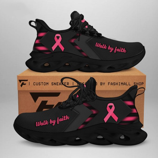 Breast Cancer Awareness Walking Shoes Sneaker