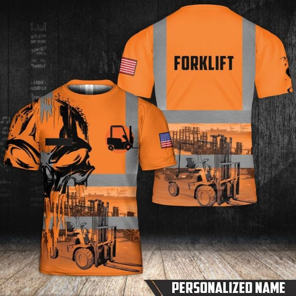 Personalized Name Forkilft 3D T-Shirt