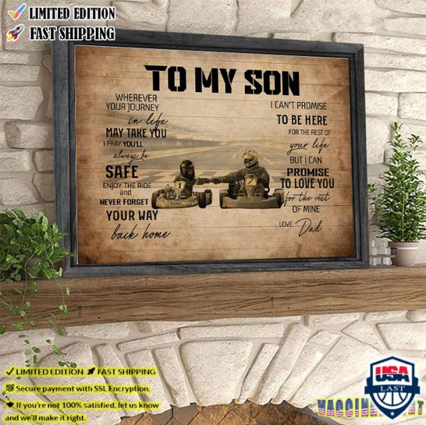 To My Son Love Dad Racing Poster