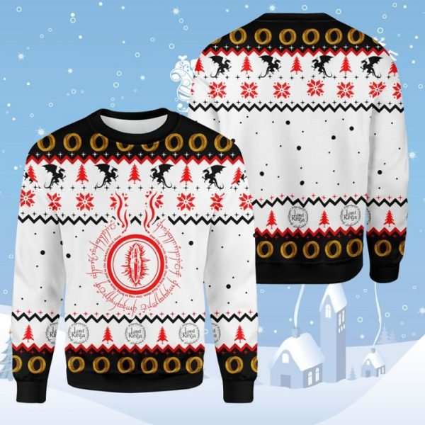 Lord Of The Ring Eyes Of Sauron 3D Ugly Christmas Sweater