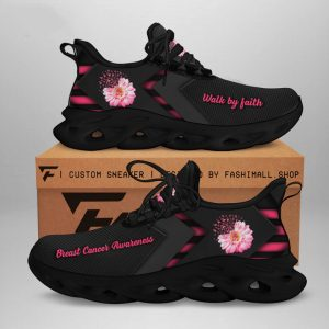 Breast Cancer Awareness Walk By Faith Flower Max Soul Sneaker Shoes