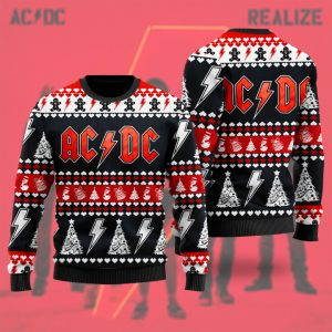 AC/DC Rock Band 3D Ugly Christmas Sweater