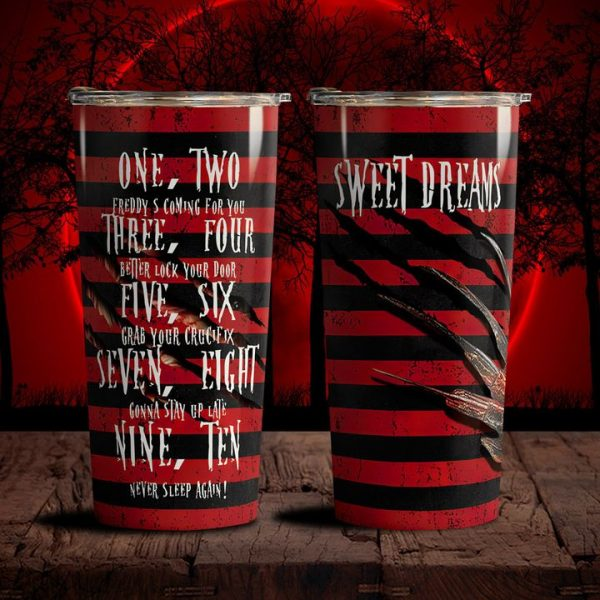Sweet-Dreams-One-Two-Freddy-Coming-For-You-Tumbler