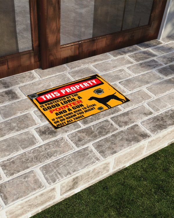 This Property Is Protected By Lord With Pointer And Gun Doormat 2