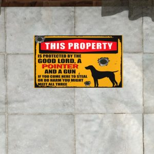 This Property Is Protected By Lord With Pointer And Gun Doormat 3