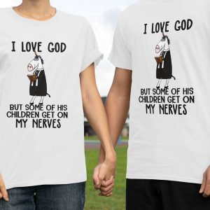Unicorns I Love God But Some Of His Children Get On My Nerves Classic T-Shirt