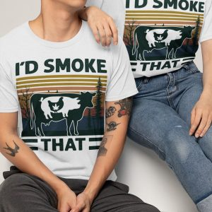 Weed chicken pig cow id smoke that vintage shirt