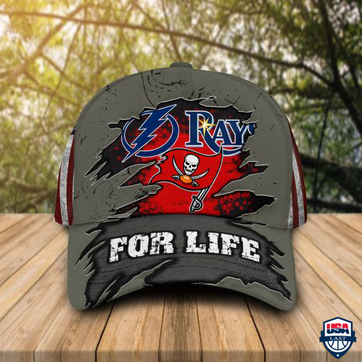 Tampa Bay Lightning Tampa Bay Rays Tampa Bay Buccaneers Sports For Life Cap & Hat