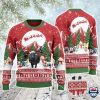Black Angus Cattle Lovers Christmas Is Coming All Over Print Ugly Sweater
