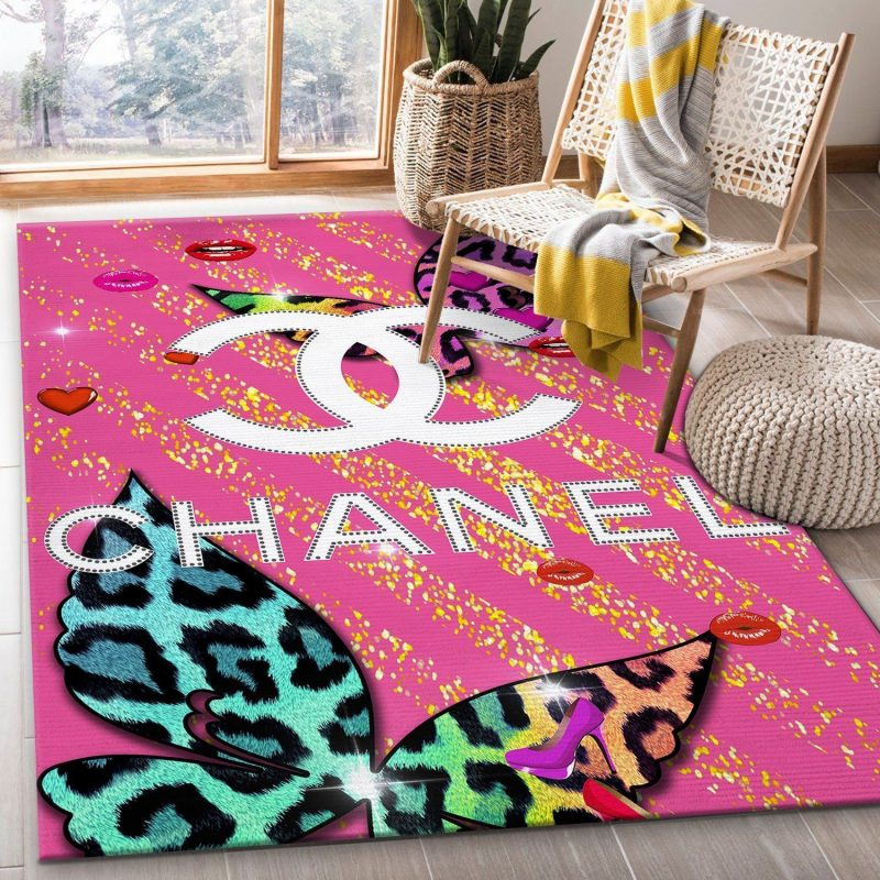 Chanel Rug Living Room And Bedroom Rug Ver 116