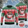 Black Angus Cattle Lovers Christmas Van All Over Print Sweater