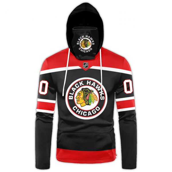 NHL Chicago Blackhawks Personalized 3D Hoodie Mask