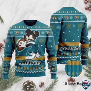 NFL Jacksonville Jaguars Mickey Mouse Funny Ugly Christmas Sweater