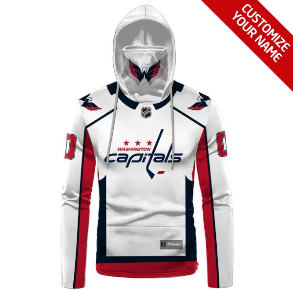 NHL Washington Capitals Personalized 3D Hoodie Mask