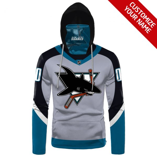 NHL San Jose Sharks Personalized 3D Hoodie Mask