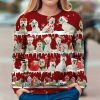 West Highland White Terrier Snow Christmas 3D Ugly Sweater