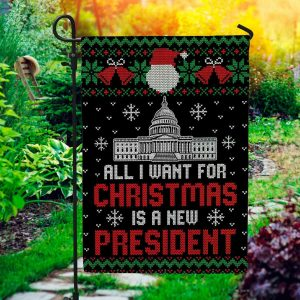 Anti Biden Flag All I Want For Christmas Is A New President