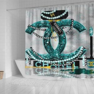 Chanel Pearl Necklace Shower Curtain Waterproof Luxury Bathroom Decoration