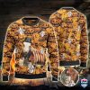 Hereford Cattle Lovers Halloween Pumpkin All Over Print Ugly Sweater