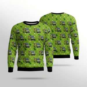 South Western Ambulance Service NHL Foundation Trust Mercedes Sprinter Ugly Christmas Sweater